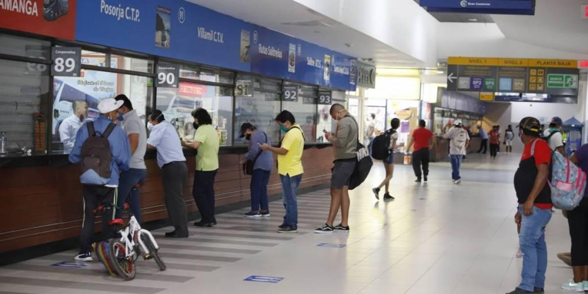 Terminal Terrestre de Guayaquil anuncia que opera  con normalidad a 23 provincias del país