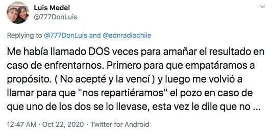 Luis Medel sobre Soa Ledy