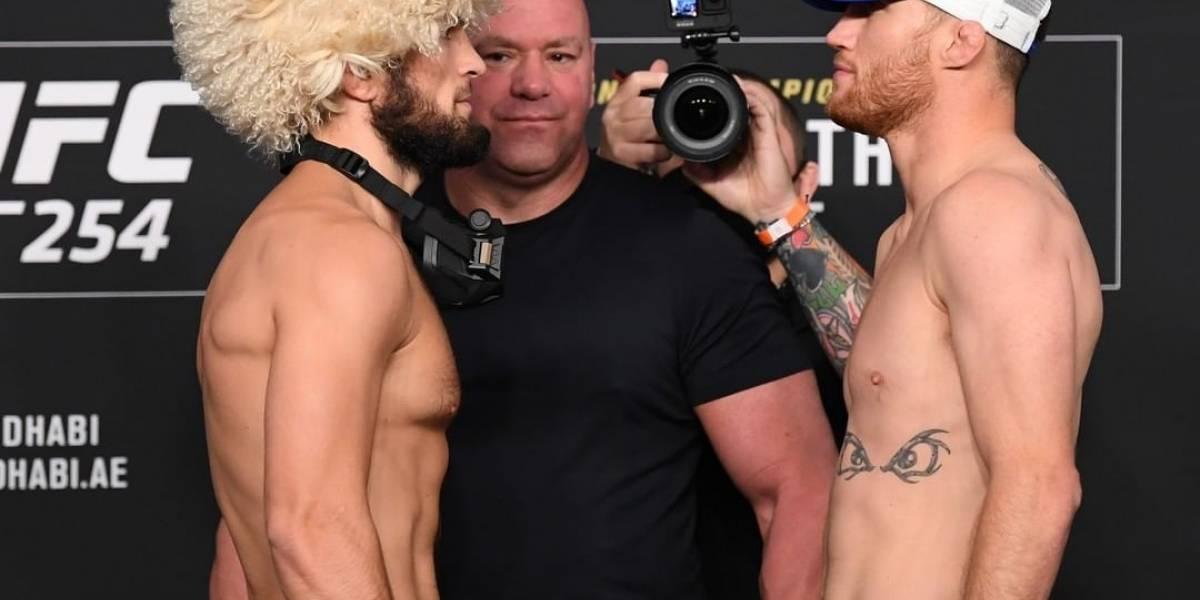 Khabib vs Gaethje: dónde ver la pelea, horarios en Ecuador y cartelera de la UFC 254