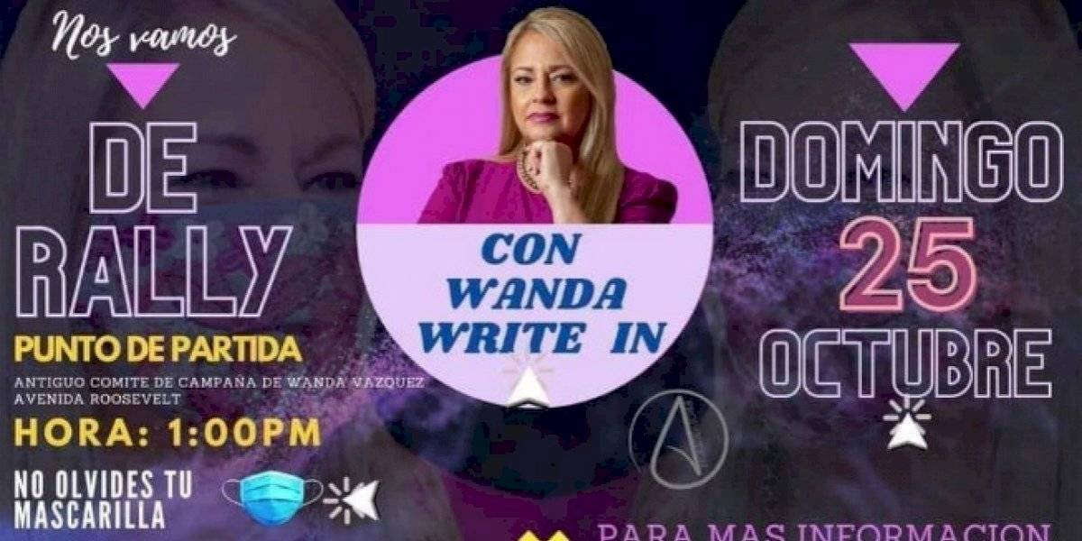 Seguidores de Wanda Vázquez invitan a rally para voto Write In