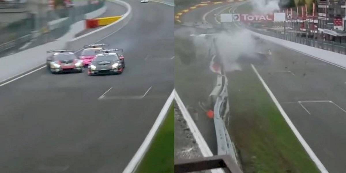 Piloto mexicano sufre terrible accidente en el circuito belga