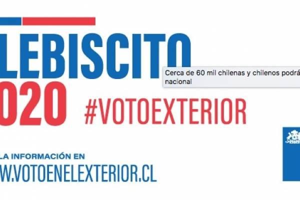 Los chilenos que participan en el Plebiscito desde el extranjero: récord de 60 mil votantes