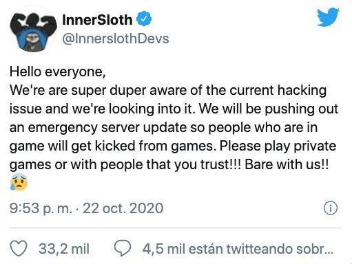 Among Us hackeado