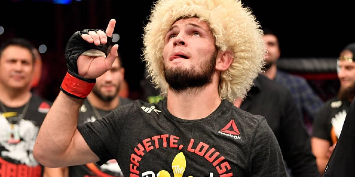 Khabib anuncia su retirada de la UFC después de vencer a Gaethje
