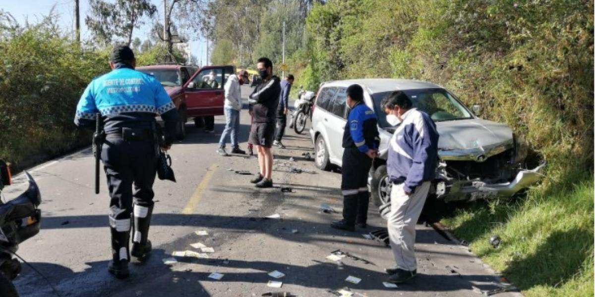 Accidentes en la mañana de este domingo 25 de octubre en Conocoto y en El Condado
