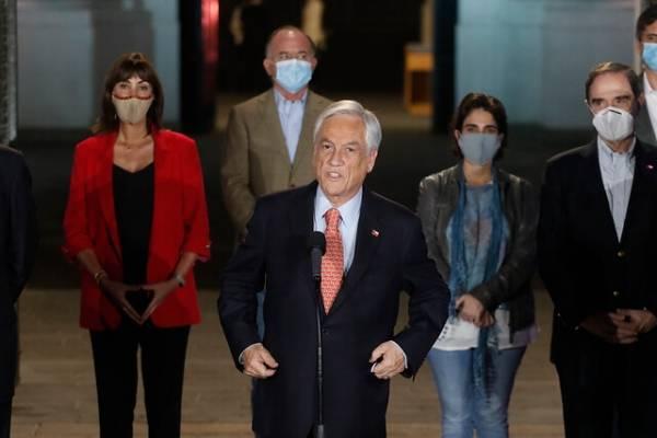 """Piñera reconoce triunfo del Apruebo: """"Este plebiscito es el comienzo de un camino"""""""