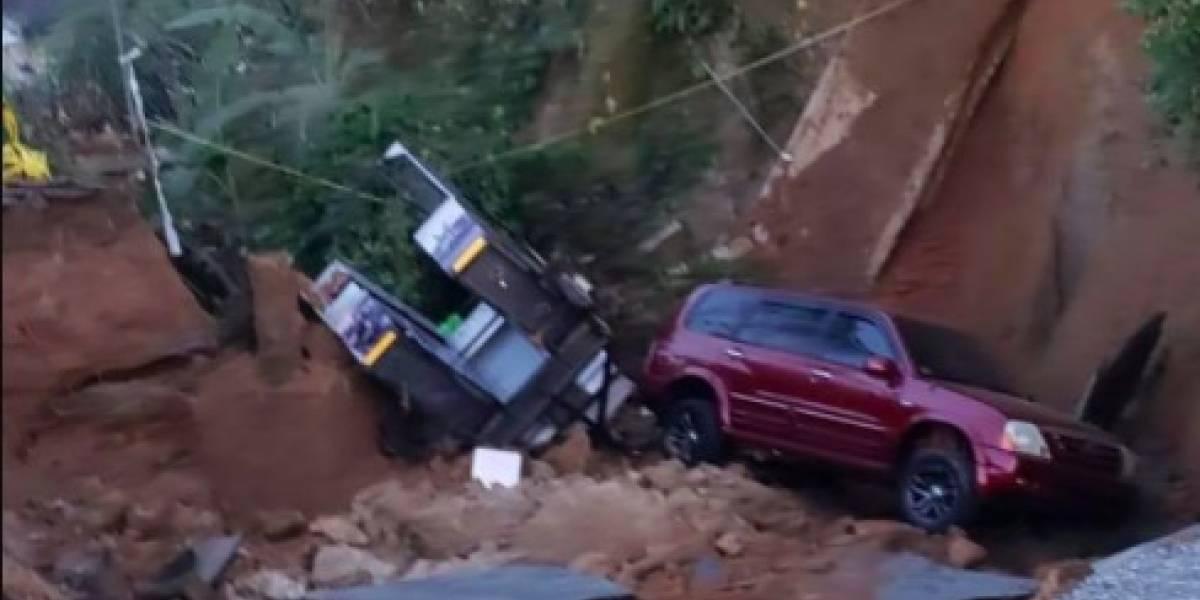 Colapsa carretera en Adjuntas afectada desde el huracán María