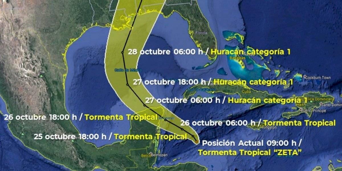 Tormenta Zeta se forma cerca del Golfo de México y podría convertirse en huracán