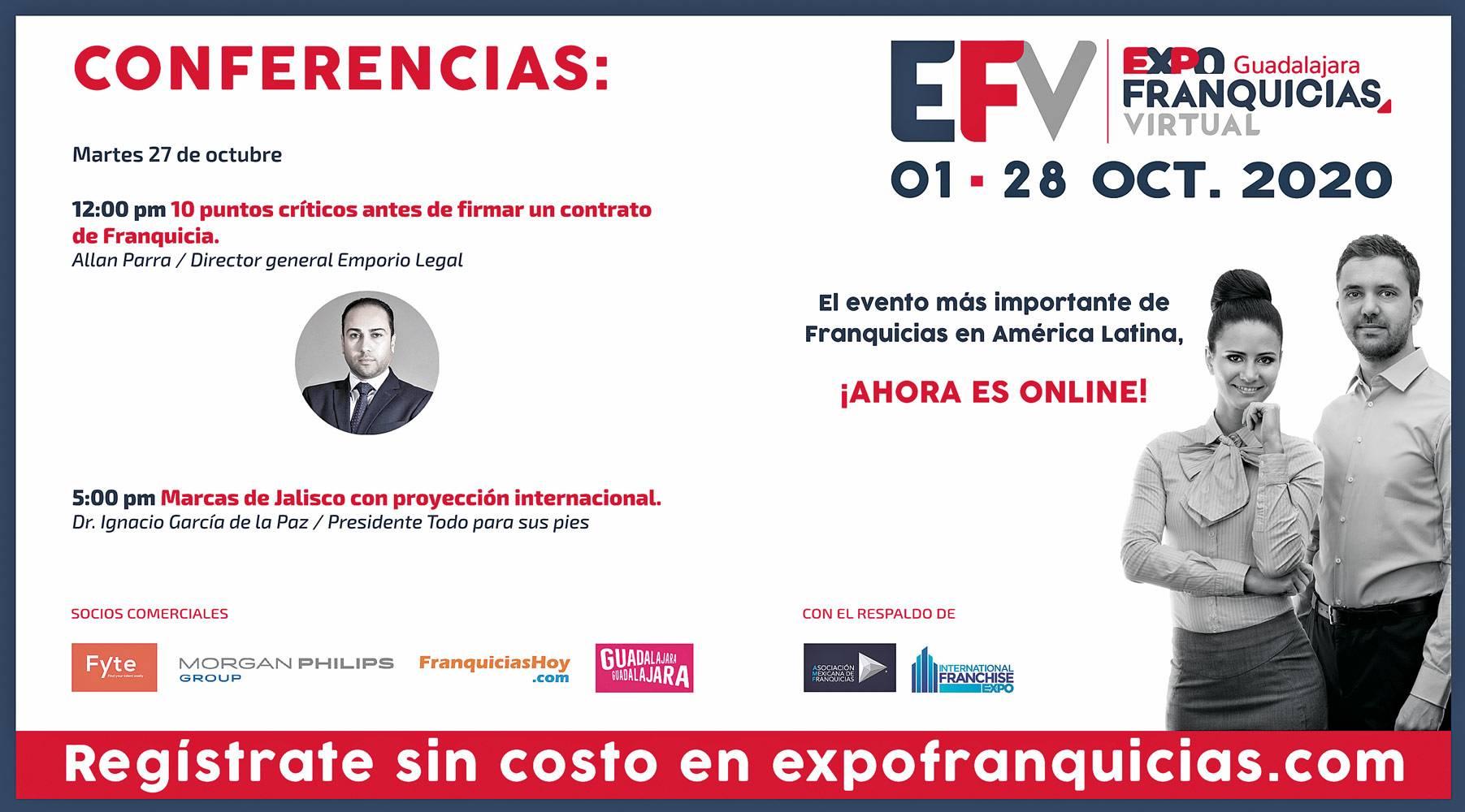Anuncio Expo Franquicias segura edición CDMX del 26 de Octubre del 2020, Página 9