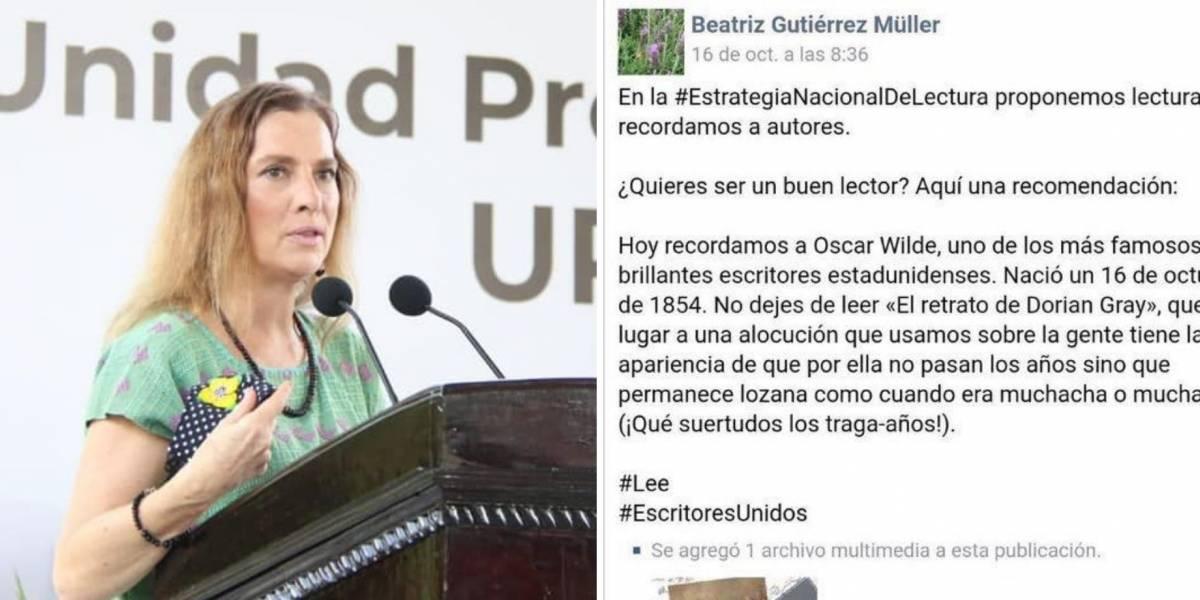 Beatriz Gutiérrez cambia de nacionalidad a Oscar Wilde