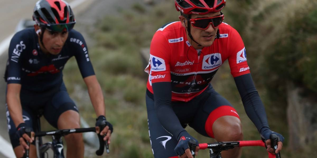 Richard Carapaz mantiene liderato general de la Vuelta  a España