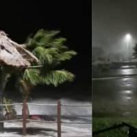 El huracán Zeta comienza a dejar estragos en Quintana Roo