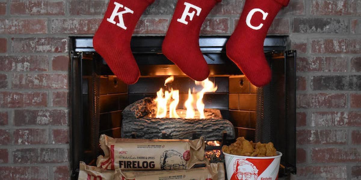Por tercer año consecutivo KFC venderá leños con olor a pollo frito en la temporada navideña