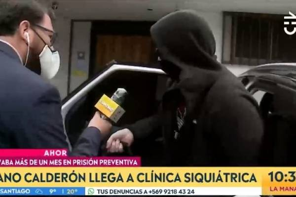 """""""Nano"""" Calderón ingresó esta mañana a clínica psiquiátrica"""