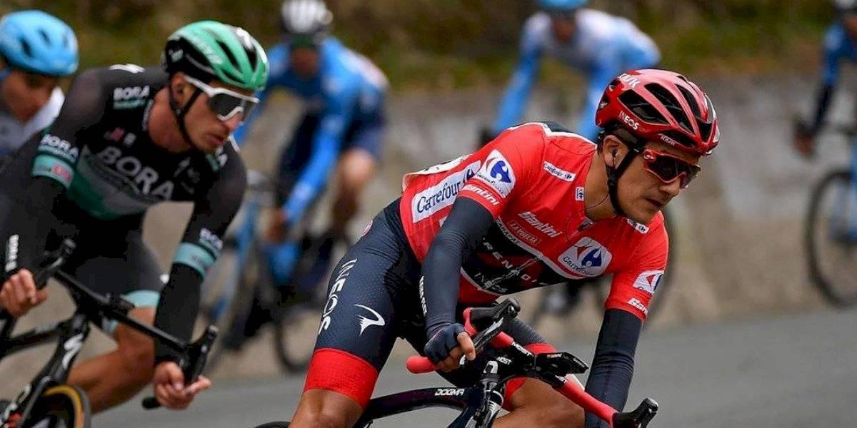 Richard Carapaz llegó segundo en la Etapa 8 de la Vuelta a España y mantiene el liderato
