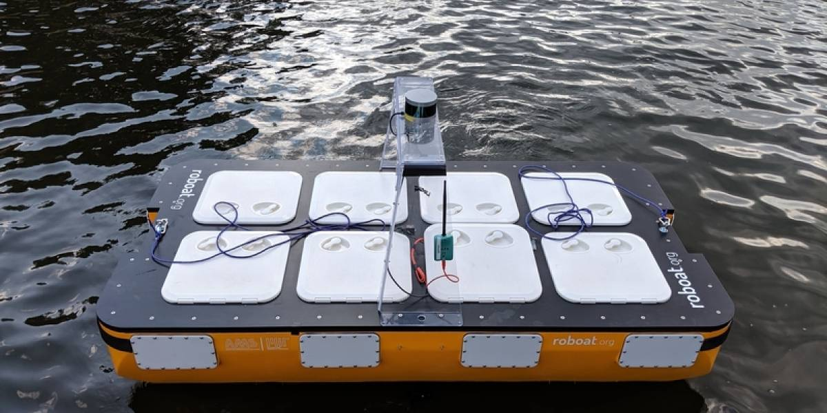 Conoce al Roboat II, el barco robot que navega en los canales de Ámsterdam
