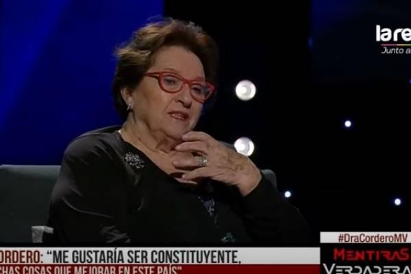 """Dra. Cordero confirma que quiere ser constituyente: """"Me gustaría ir a aportar para hacer mejor las cosas"""""""