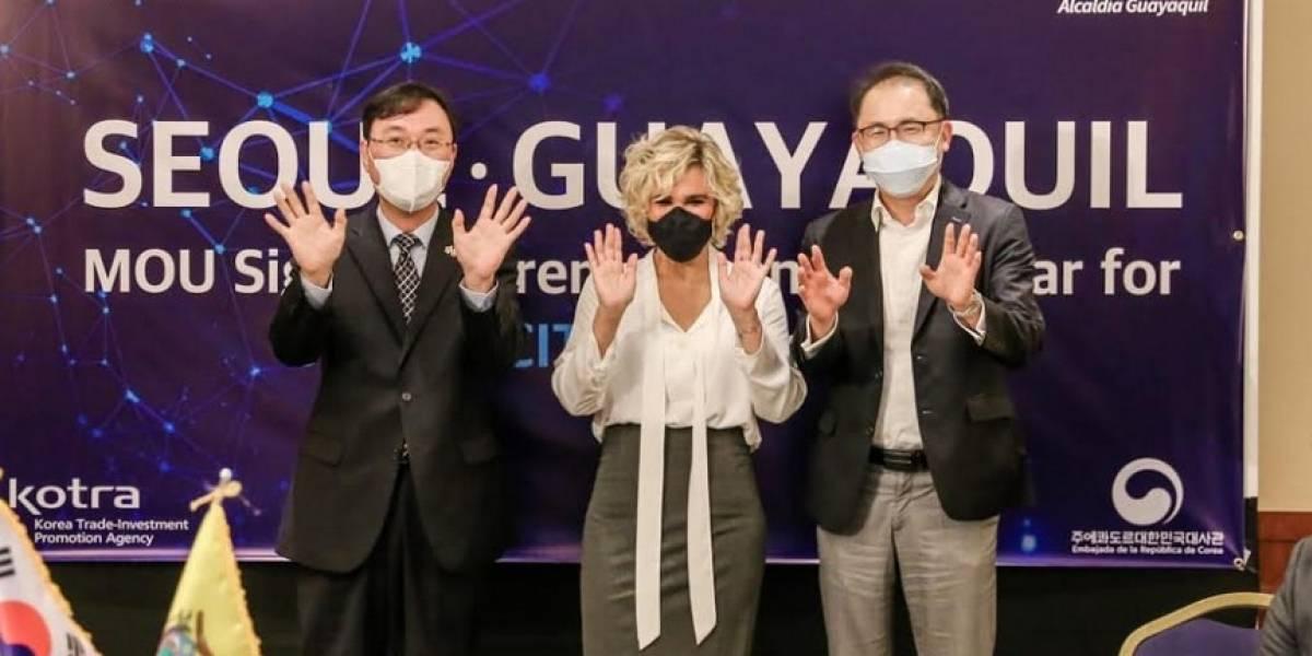 Seúl enviará tecnología a Guayaquil: ¿De qué se trata el convenio firmado entre Corea del Sur y la Alcaldía de Guayaquil?