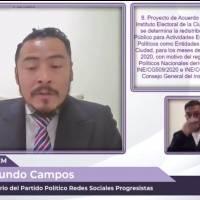 Redes Sociales Progresistas se compromete a regresar 50% de prerrogativas en la CDMX