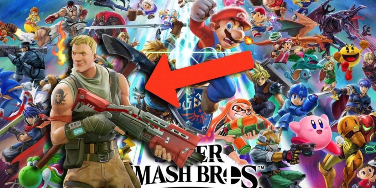 Fortnite: podría llegar algún tipo de contenido a Super Smash Bros Ultimate