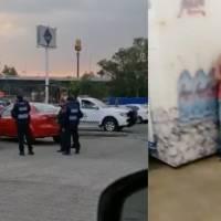 VIDEO: Se desata balacera en supermercado de San Jerónimo