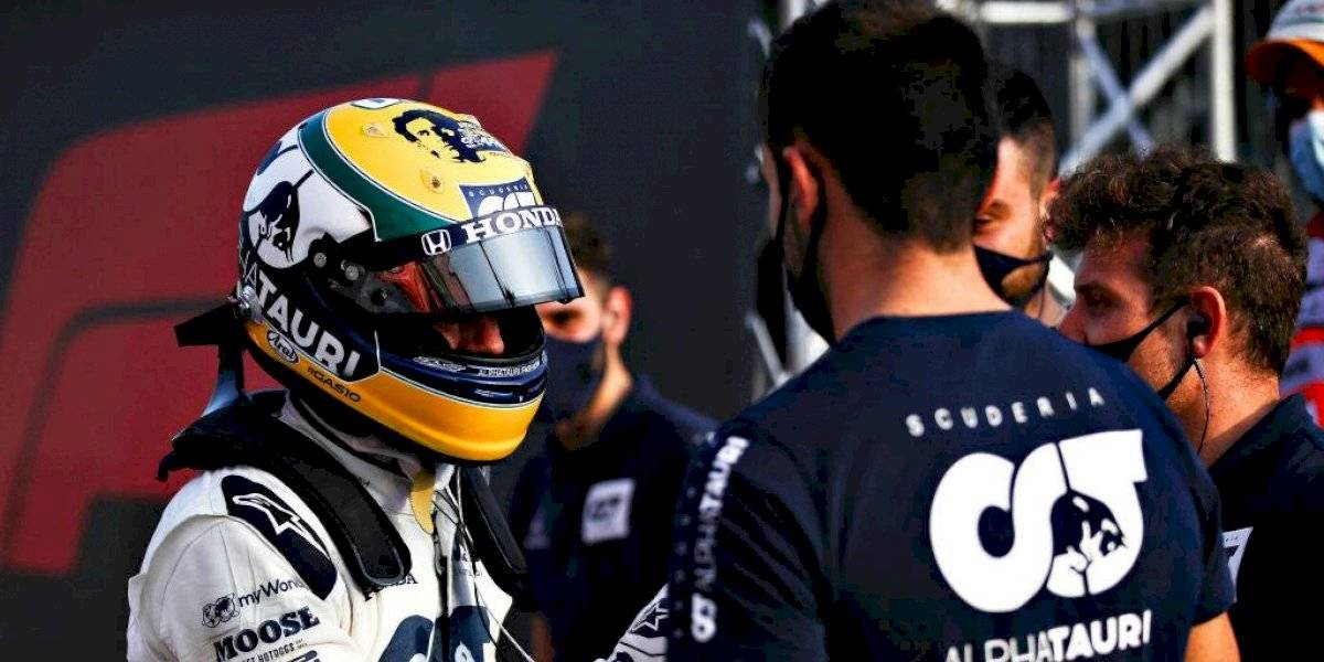 Pierre Gasly homenajeará a Ayrton Senna con casco especial