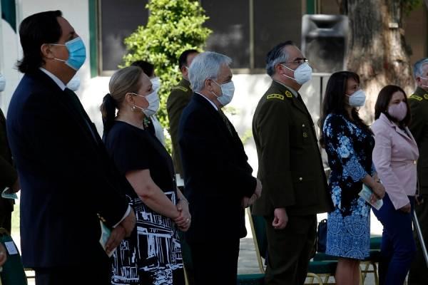 Presidente Piñera asiste a misa en honor al carabinero asesinado en La Araucanía