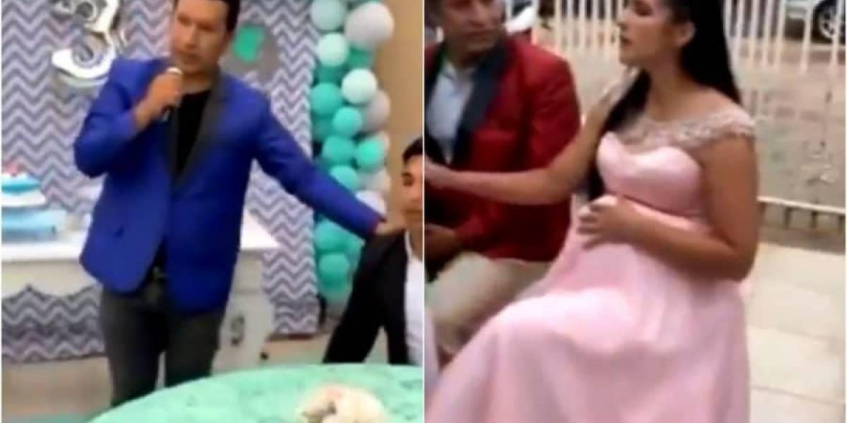 Video viral: en plena fiesta, hombre reveló pruebas de infidelidad de su novia embarazada