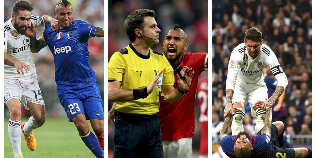 """Arturo Vidal, el """"hater"""" del Real Madrid que le hace goles con todas las camisetas"""