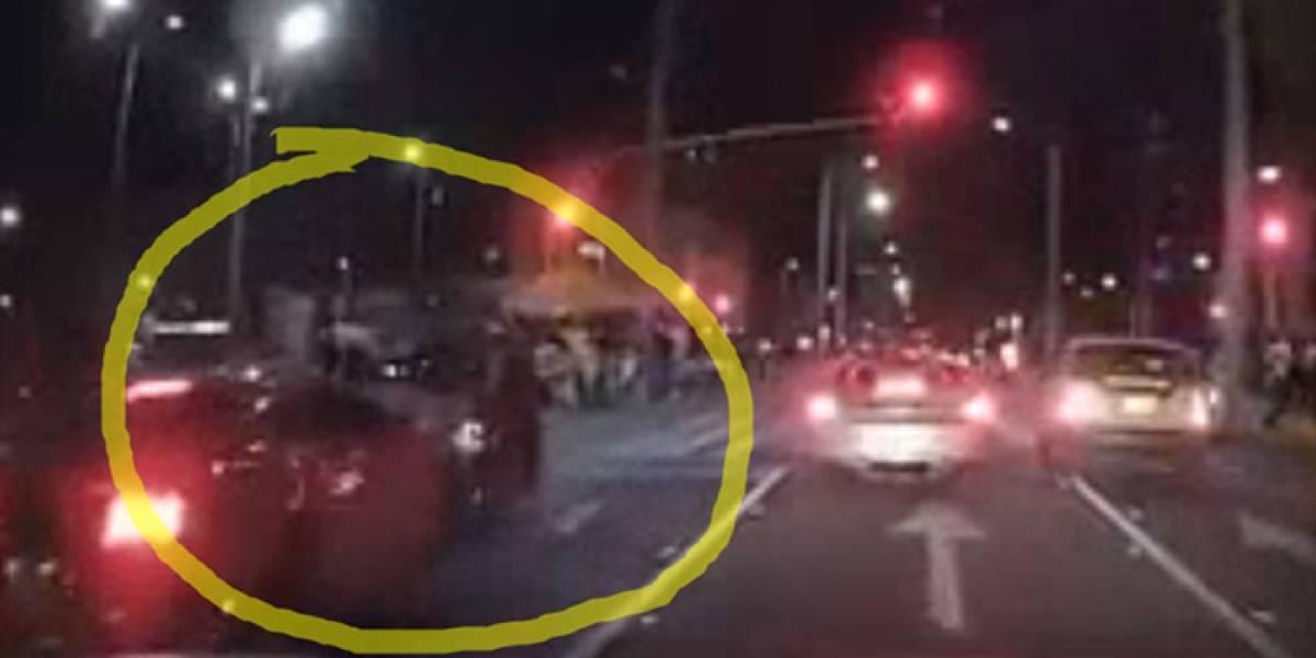 Habla el motociclista arrollado por un auto deportivo en la Zona Rosa de Bogotá