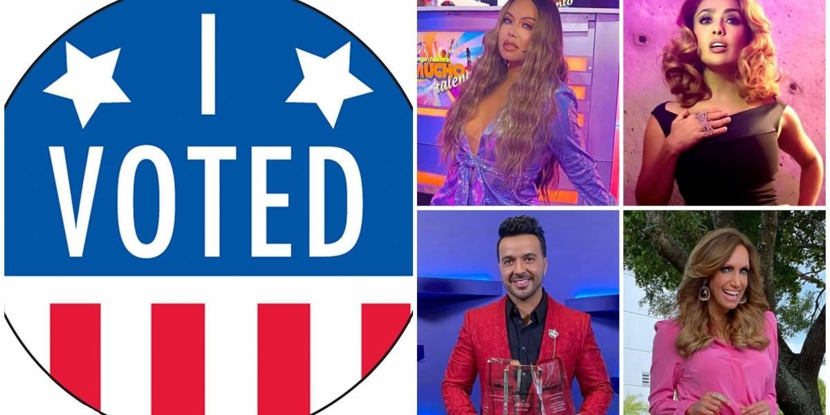 Famosos latinos que ya votaron en las elecciones presidenciales de EU