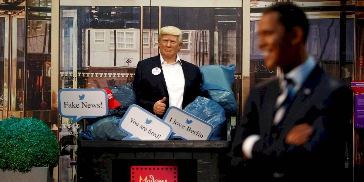 Donald Trump a la basura: el Presidente de Estados Unidos aparece en un basurero en el museo de cera de Berlín