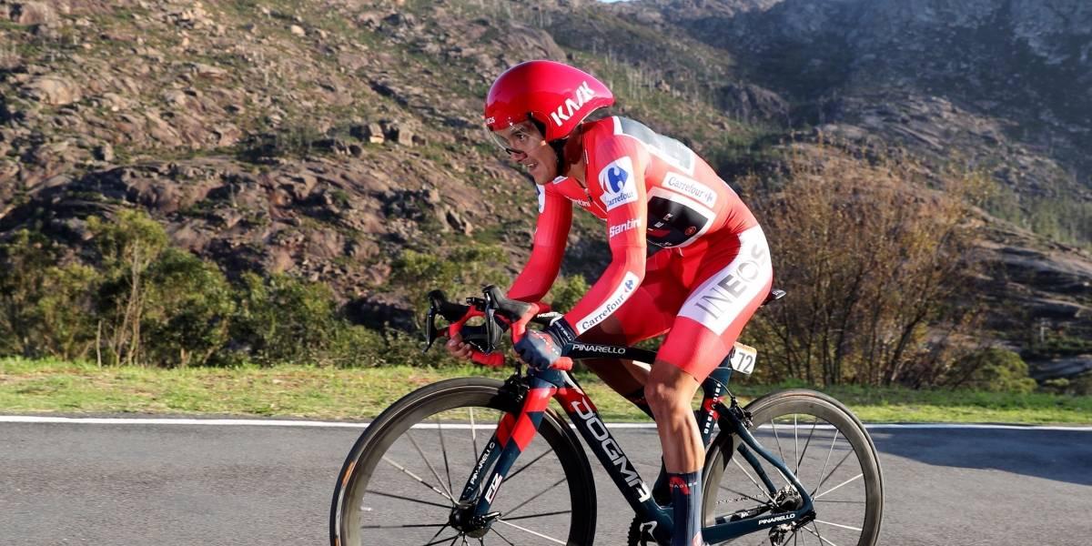 """""""Ha sido una contrarreloj muy dura, pero estoy muy contento con el resultado"""": Richard Carapaz, dispuesto a perseguir su objetivo de ganar la Vuelta a España"""
