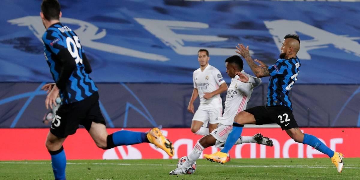 Los minutos de Arturo Vidal y Alexis Sánchez fueron lo único positivo de la derrota del Inter de Milán ante Real Madrid