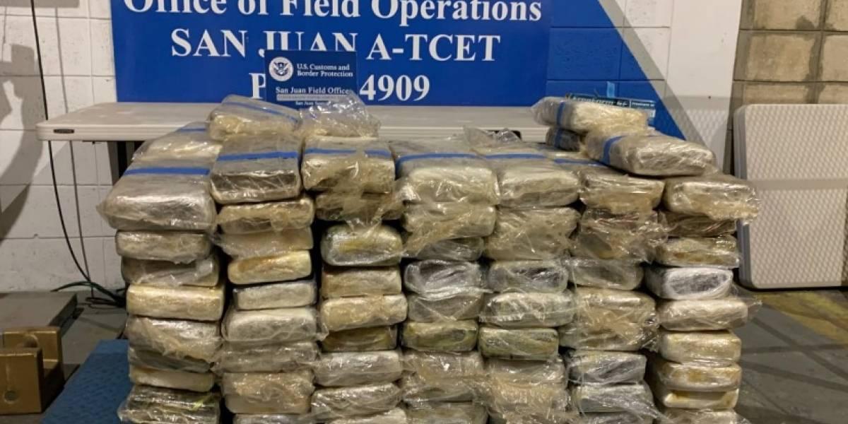 Ocupan más de 1,400 libras de cocaína cerca de Cabo Rojo