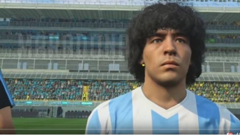 Diego Maradona en el Pro Evolution Soccer.