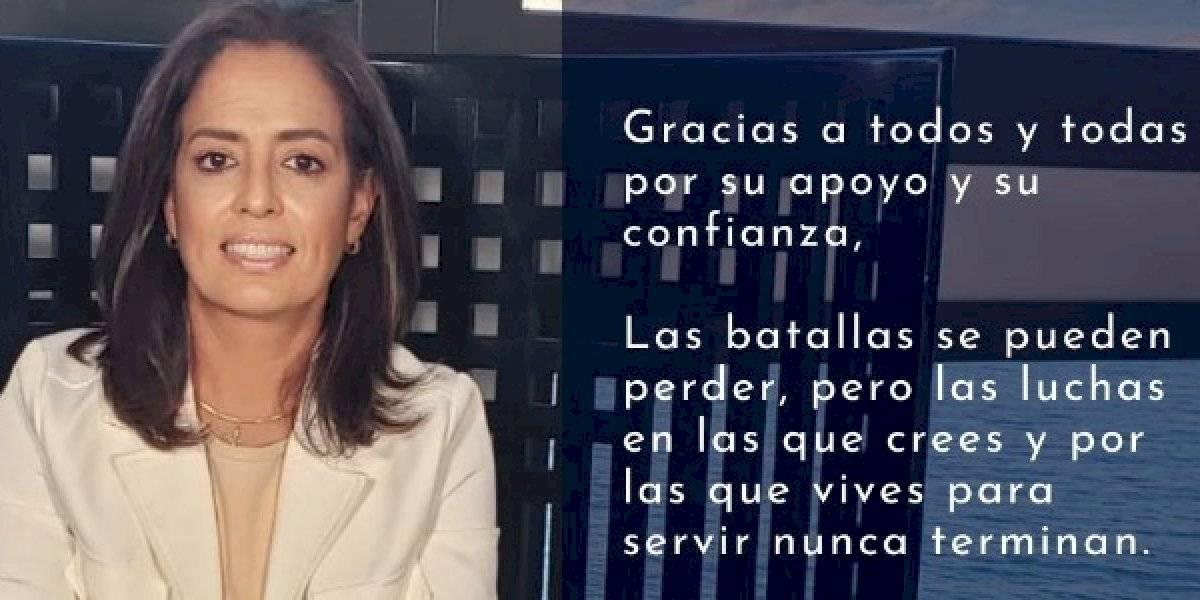 Rossana López felicita a quien finalmente resulte ganador en San Juan