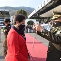"""Policía otorga condecoración """"Gran Cruz del Orden y Seguridad Nacional"""" a la ministra María Paula Romo"""