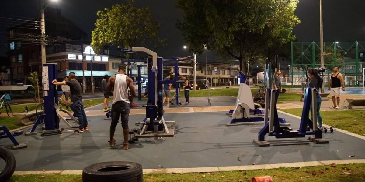 Gimnasios nocturnos se toman Bogotá: conozca cuáles son los 30 parques habilitados