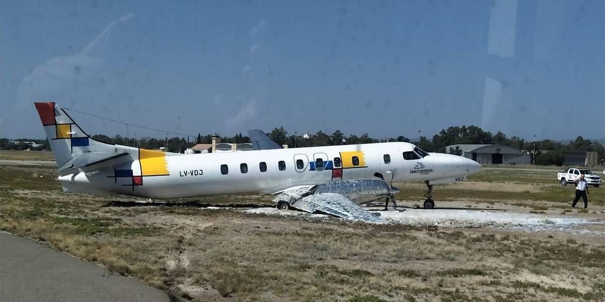 Avión que se despistó por falla del tren delantero casi provoca una tragedia mayor en el aeropuerto de Mendoza