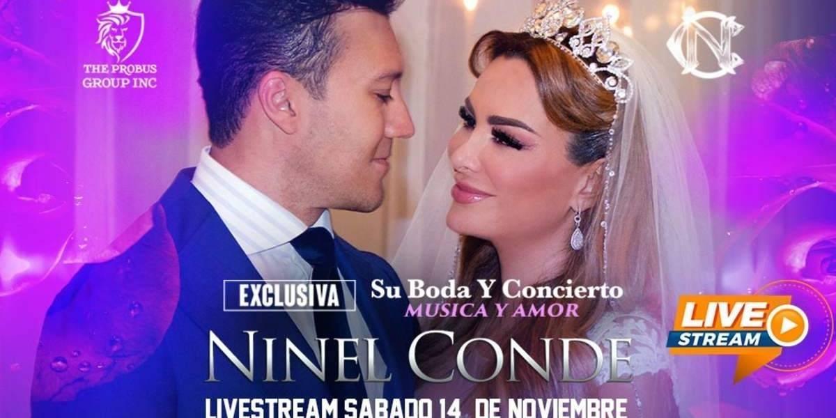 """Podrás """"asistir"""" a la boda de Ninel Conde, vende entradas virtuales y dará concierto"""