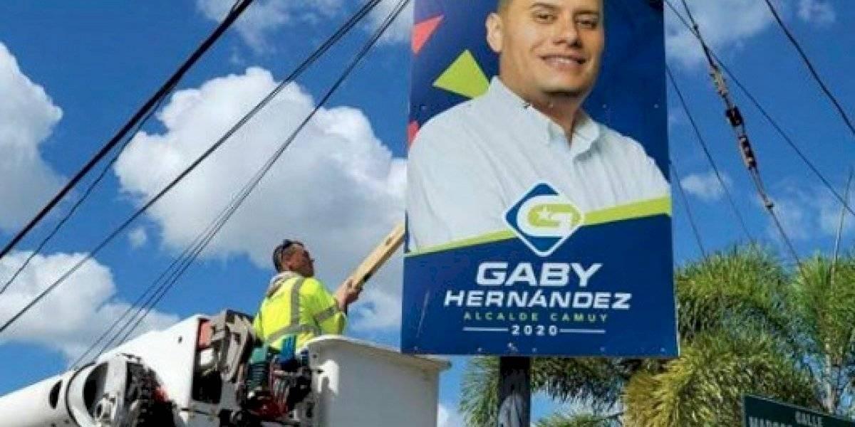 Remueven propaganda política en Camuy