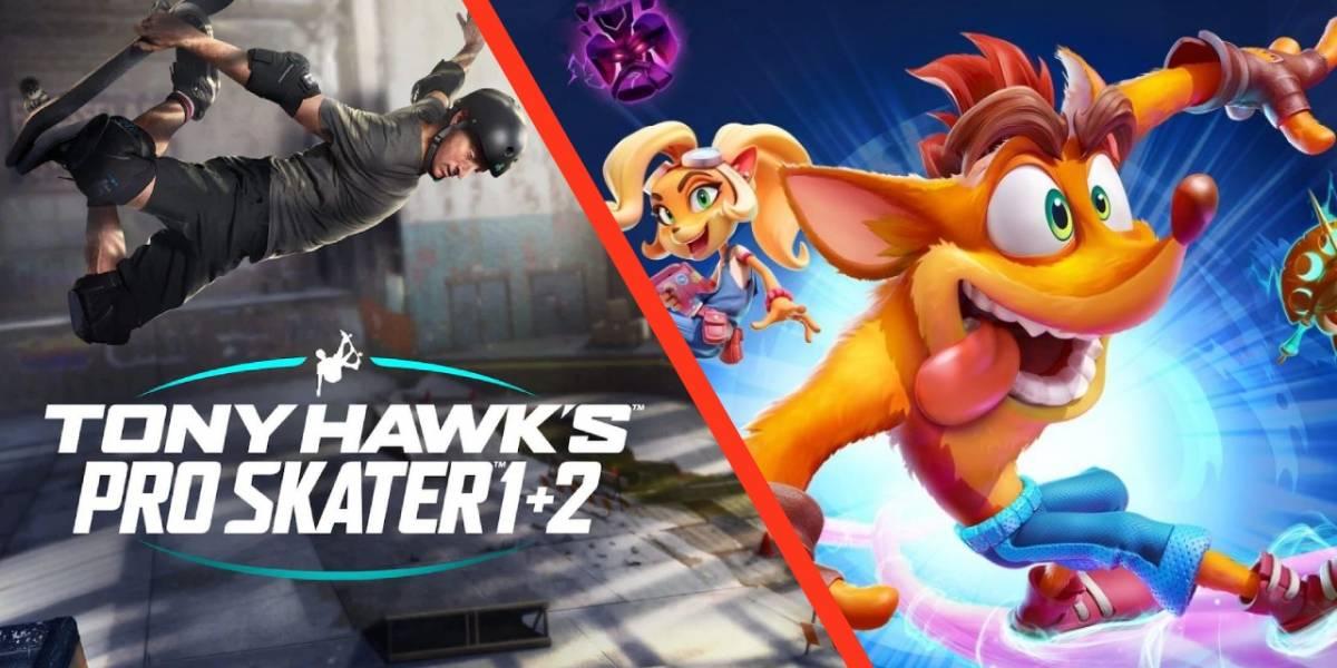 Crash Bandicoot y Tony Hawk unen fuerzas el día de hoy en evento especial