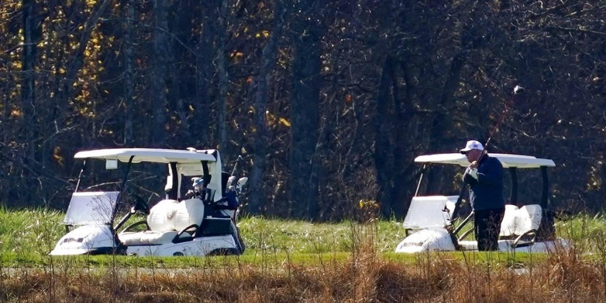 Donald Trump estaba jugando golf cuando se enteró de la victoria de Joe Biden