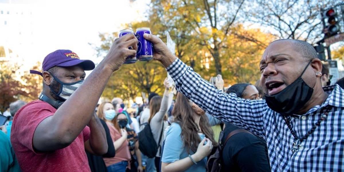 En fotos: Así celebraron el triunfo de Joe Biden en Estados Unidos