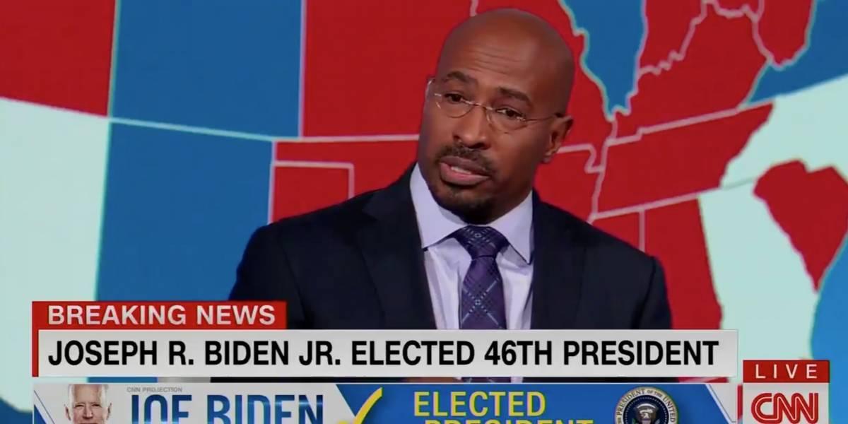Analista de CNN estalla en lágrimas cuando se entera que Trump perdió