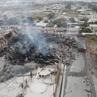 Imágenes que dejó el incendio en fábrica cartonera de Durán tras ser controlado en su totalidad