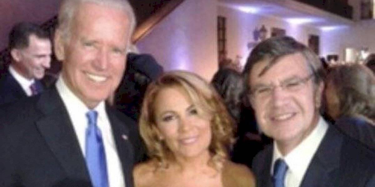 """""""Esta foto la sacamos con Cathy Barriga"""": Joaquín Lavín felicitó a Joe Biden tras su triunfo en EE.UU"""