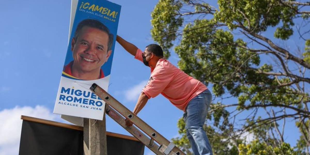 Miguel Romero recoge sus rótulos de campaña