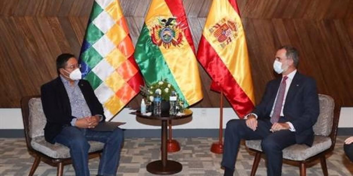 El rey de España y varios mandatarios asisten a la toma de posesión del presidente Luis Arce en Bolivia